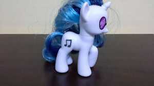 My Little Pony DJ Pon-3 rare. 2 ton blue brushable hair