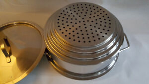 Paderno Stainless Steel Steamer with Lid