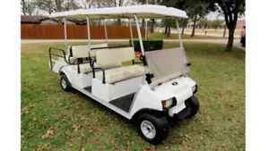 2005 club car villager GAS golf cart limo 6 passenger shuttle