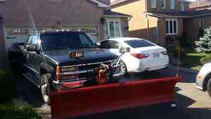 Really clean gmc dually 4x4 diesel with plow 8.5 western