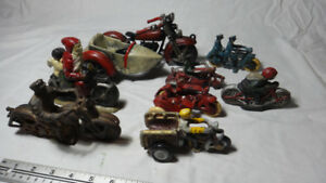 Replica Cast Iron Toy Motorcycle Collection 8 pieces