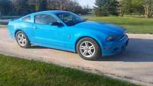 2013 Ford Mustang V6 305 HP GRABBER BLUE EXHAUST FINANCE