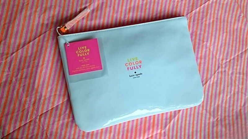 KATE SPADE NEW YORK LIVE COLOR FULLY LARGE GLOSSY POUCH