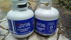 Two Exchangeable Propane Tanks