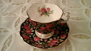 FINE BONE CHINA CUP & SAUCER, ROYAL ALBERT MADE IN ENGLAND
