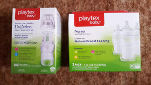 BRAND NEW Playtex bottles and drop in liners