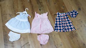 Baby Girl Dresses - 6-12months - EUC