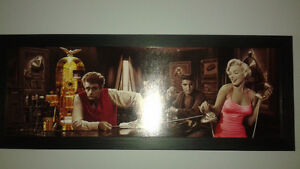 Marilyn Monroe elvis Humphrey bogart James Dean pic