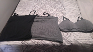 Nursing tank tops and sports bra