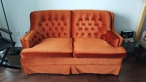 Vintage couch/loveseat in good condition - for sale!