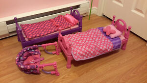 My Life Doll Accessories 2 Bed Sets and Clip-On Chair (Rexton)