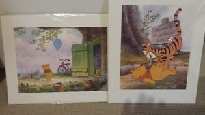 Winnie the Pooh prints and plaque