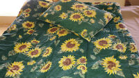 Sunflower Comforter and Towels