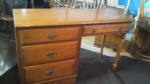 Vintage Vilas Solid Rock Maple Desk & Chair Canadian Made