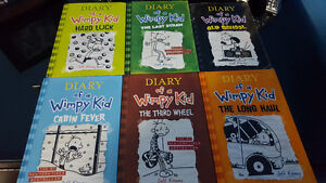 Diary of a wimpy Kid ( 6 books as brand new ones)
