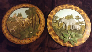 Two beautiful African picture frames