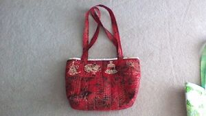 Red Carry All Shoulder Tote Bag ladies