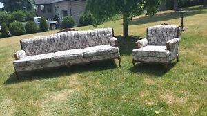 Victorian style couch and chair Peterborough Peterborough Area image 1