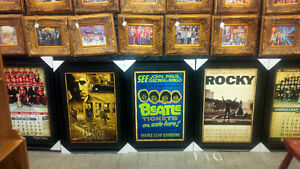 24x36 ALI-BEATLES-ROCKY-LEAFS-GODFATHER-STONES-FRAMED POSTERS