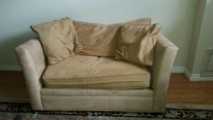 Free!! Light brown love seat, faux suede