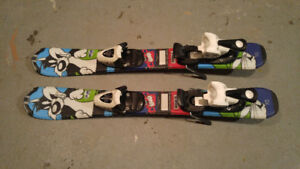 Kids skis and bindings