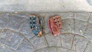 Baseball gloves, leather