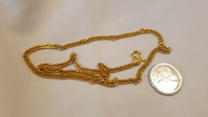 "24K Pure Solid Gold Necklace Chain Weighs 19.1 Grams 18"" long"