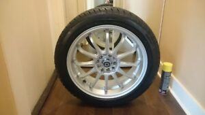 High Performance Snow Tires on Konig Rims - 205/50/17