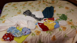 CLOTH REUSABLE DIAPERS & BAG, SLING & FEEDING COVER