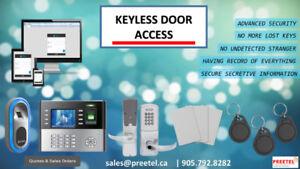 Keyless Door Access System Sales & Installation-905-792-8282