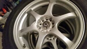 "Great set of 18"" winter rims and tires for sale, almost new!"