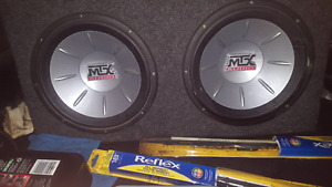 "Two 12"" subs and alpine amp"