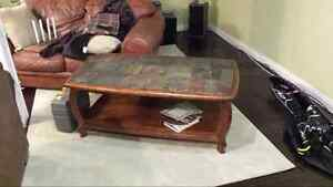 Solid Wood Coffee Table & End Tables