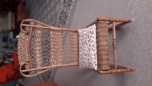 Vintage Woven Rattan Rocking Chair - Reduced