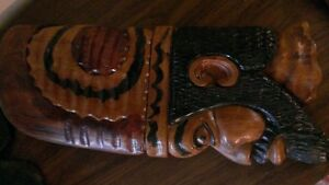 Wooden art work from St. Lucia