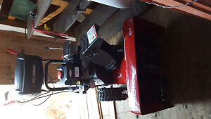 Lightly used gas snowblower with electric start for sale