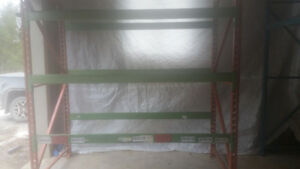 Pallet rack shop storage