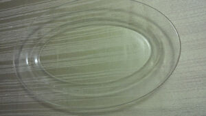 New Oval Glass Plate - for sale !