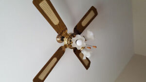 Vintage Ceiling Fan with  Three Lights