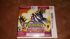 For sale pokemon omega ruby 3ds.