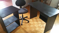 Computer Table, Side Table, Chair (all for $45)