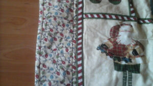 CHRISTMAS FLANNEL QUILTS - CHILD OR LAP QUILT