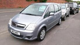 VAUXHALL MERIVA 1.4 CLUB LOW MILEAGE AIR CON 2 LADY OWNERS FEBRUARY TEST, 2010