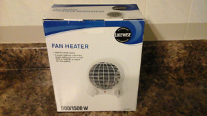 Likewise Fan Heater - Ideal for small rooms New in Box