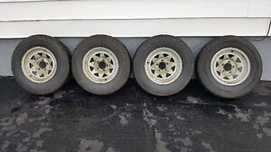 Selling 4 trailer tire and rims