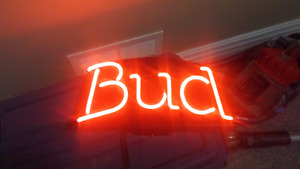 Light up beer signs taps and metal signs