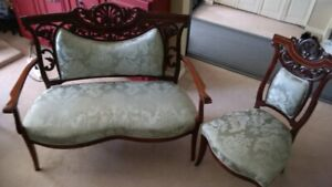 Antique Love-seat and Chair