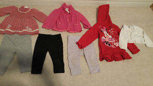 6-12 months girl's sweaters and pants