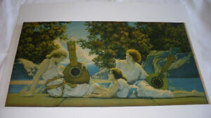 "1920's Maxfield Parrish Print ""The Lute Players'"