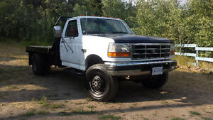 1997 Ford F-350 4x4 Dually. Sell or trade for 5 ton diesel